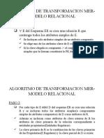 transformacion mer-Relacional