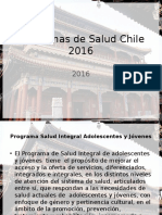 Programas de Salud Chile 2016