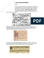 Notacion y Modos Gregorianos