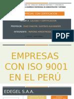 EMPRESAS  CON CERTIFICACIÓN  DE ISO 9001 , 14001 Y HACCP - ALEX PARIONA HINOSTROZA.pptx