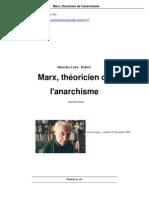 Rubel - Marx, théoricien de l'anarchisme