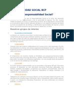 Responsalidad Social Bcp