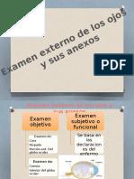 Examen Externo de Los Ojos
