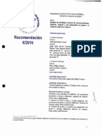 Recomendación a la PGJDF y TSJDF