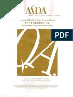 ASDA Packet I-M (Part 1)
