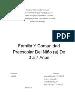 Familia y Comunidad