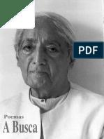 A Busca  Poemas de  Jidu Krishinamurti