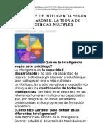 Los 8 Tipos de Inteligencia Según Howard Gardner