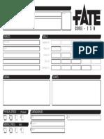 Fate Core-Ish Character Sheet