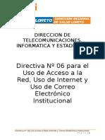 Uso de Acceso Red, Internet y Correo Electronico