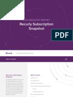 Recurly Saas Subscriber Industry Trends