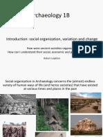Ar1B Social Organisation