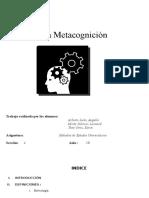 Ensayo Sobre Metacognición