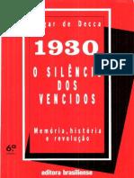 1930- O Silêncio Dos Vencidos- Edgar de Decca