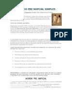 Acordo Pre Nupcial Simples - Modelo