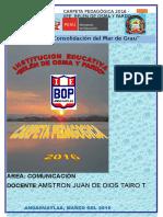 Amstron Carpeta Pedagogica Comunicacion 5to