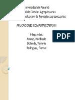 Formulacion y Eval de Proyectos Agropecuarios