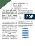 Dynamic Key Matrix of Hill Cipher Using Genetic Algorithm Ver 3