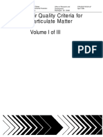 Air Quality Criteria for Particulate Matter-Volume I