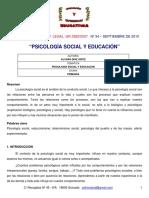 Psicologia Social de La Educación