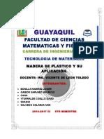 Tec. de Materiales Madera de Plastico