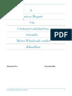 customer satisfaction regarding wholesale outlet in jalandhar
