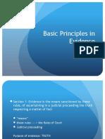 Basic Principles in Evidence