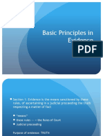 Basic Principles in Evidence