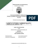 El Principio de Oportunidad y La Disminución de La Carga Procesal en Las Fiscalías Provinciales Penales de Huancavelica en El Periodo 2011 2012