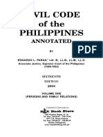 Civil Code of the Philippines, Volume I (Persons and Family Relations)