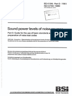 [BS 4196-0-1981] -- Sound Power Levels of Noise Sources. Guide for the Use of Basic Standards and for the Preparation of Noise Test Codes