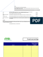 Fixed Asset and Depreciation Schedule