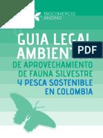 Guía Legal Ambiental de Aprovechamiento de Fauna Silvestre y Pesca Sostenible