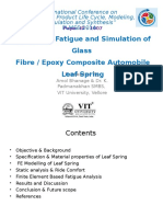 Design for Fatigue and Simulation of Glass Fibre Epoxy Composite Automobile Leaf Spring