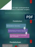 Predictors of Major Postoperative Complications in Neonatal Surgery