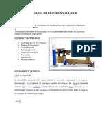Densidades de Líquidos y Solidos. 1