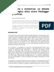 3. Esencia o existencia- un debate ontologico etico entre Heidegger y Levinas.pdf