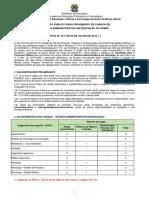 Edital Nº 273-2016 - Concurso de Técnico-Administrativos Em Educação Do IFNMG