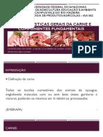 Características Gerais Da Carne e Componentes Fundamentais