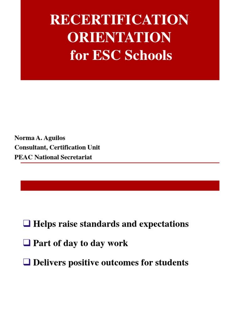 Certification for esc schools teachers educational assessment xflitez Image collections