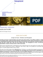 ALEA IACTA EST - The Global Economy is Out of Control