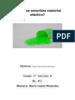 """proyecto """"Como sintetizar un material elástico"""""""