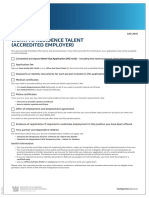 INZ C3115_ Work to Residence (Talent) Accredited Employer Checklist (INZ C3115) _ July 2015