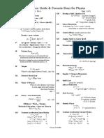 Physics a Level Formula Sheet 1 (Detailed)