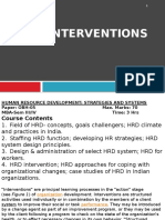 Unit IV, Hrd Intervention