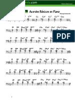 Acordes básicos en Piano