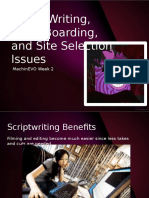 Script Writing Story Boarding and Site Selection Issues