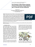 Simulation Based Analysis of Bee Swarm Inspired Hybrid Routing Protocol Parameters Using Realistic Mobility Model In Vehicular Ad-Hoc Networks