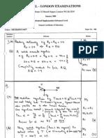 2001 Jan MS Edexcel Mechanics 6677