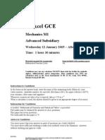 2005 Jan QP Edexcel Mechanics-1 6677